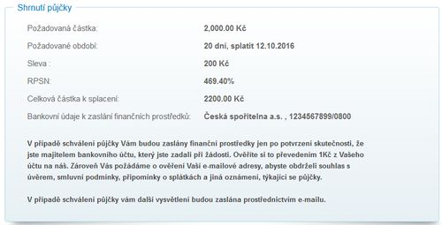 Online nebankovní rychlé pujcky ihned šternberk akce picture 9
